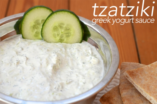 large cucumber, 1 1/2 cup greek yogurt, 1 garlic clove, 2 ...